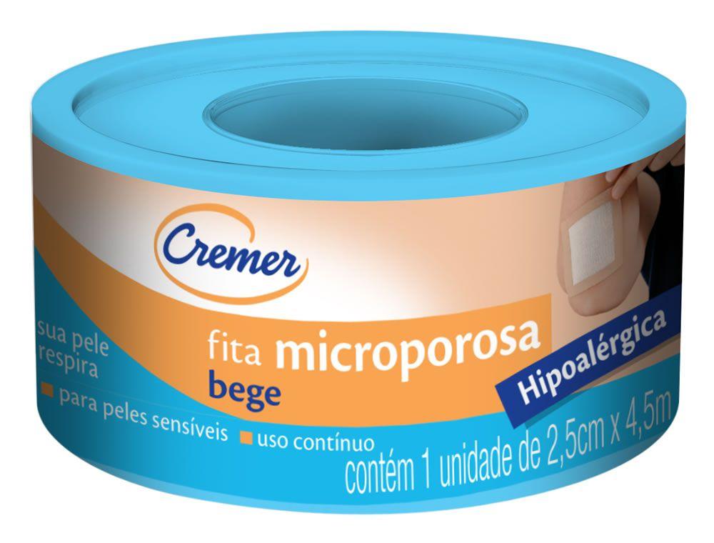 Fita Microporosa Bege 2,5cm x 4,5m Cremer
