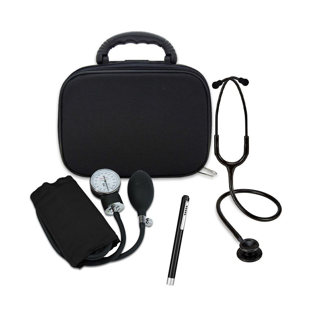 Kit Acadêmico Básico Black Edition com Bolsa