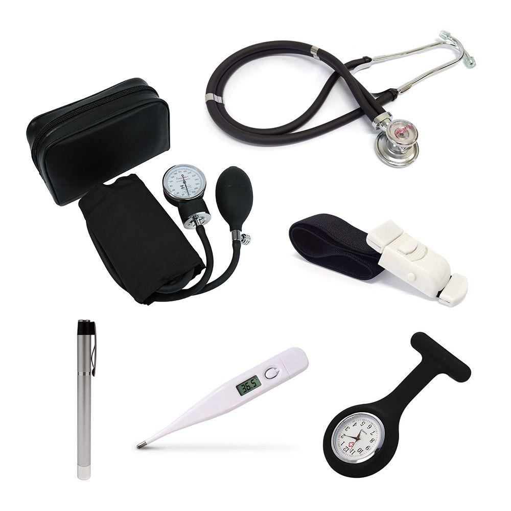 Kit Enfermagem Acadêmico Preto