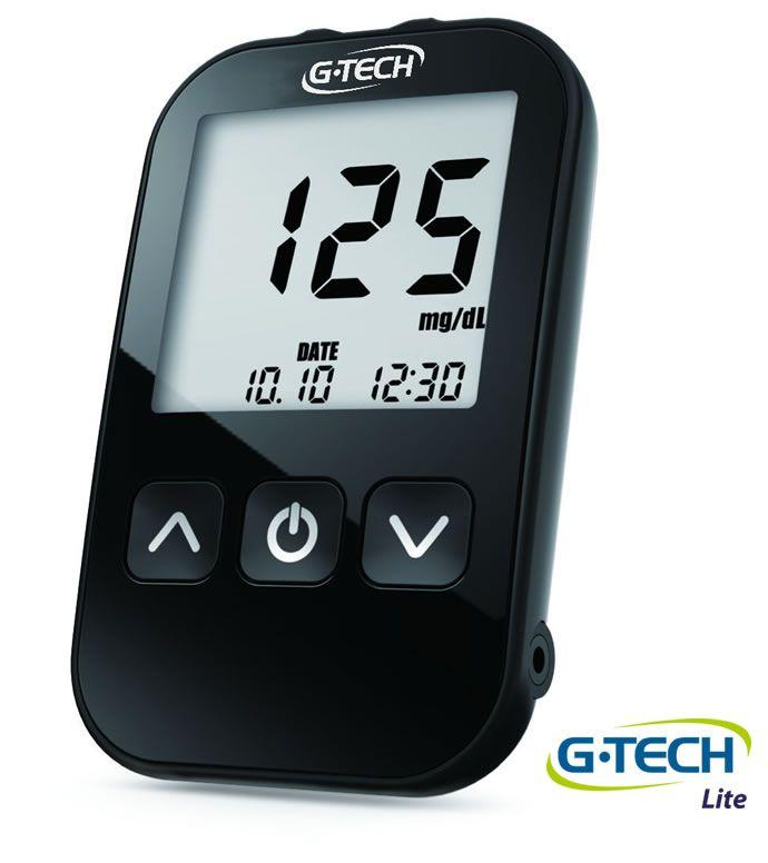 Kit Medidor De Glicose G-Tech Lite Completo C/ 10 Tiras G-Tech