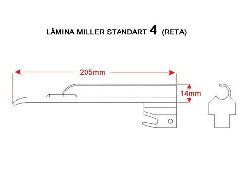 Lâmina Laringoscópio Convencional Miller Reta Tam 4 MD