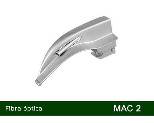 Lâmina Laringoscópio Fibra Óptica Curva Nº2 MD