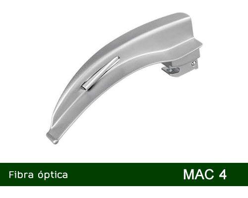 Lâmina Laringoscópio Fibra Óptica Curva Nº4 MD