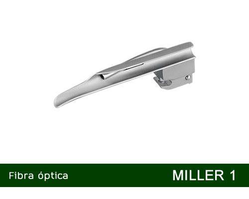 Lâmina Laringoscópio Fibra Óptica Miller Nº1 MD