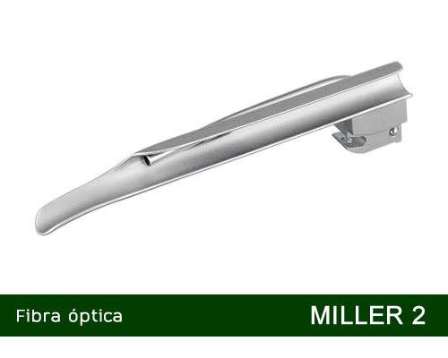 Lâmina Laringoscópio Fibra Óptica Miller Nº 2 MD