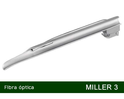 Lâmina Laringoscópio Fibra Óptica Miller Nº3 MD