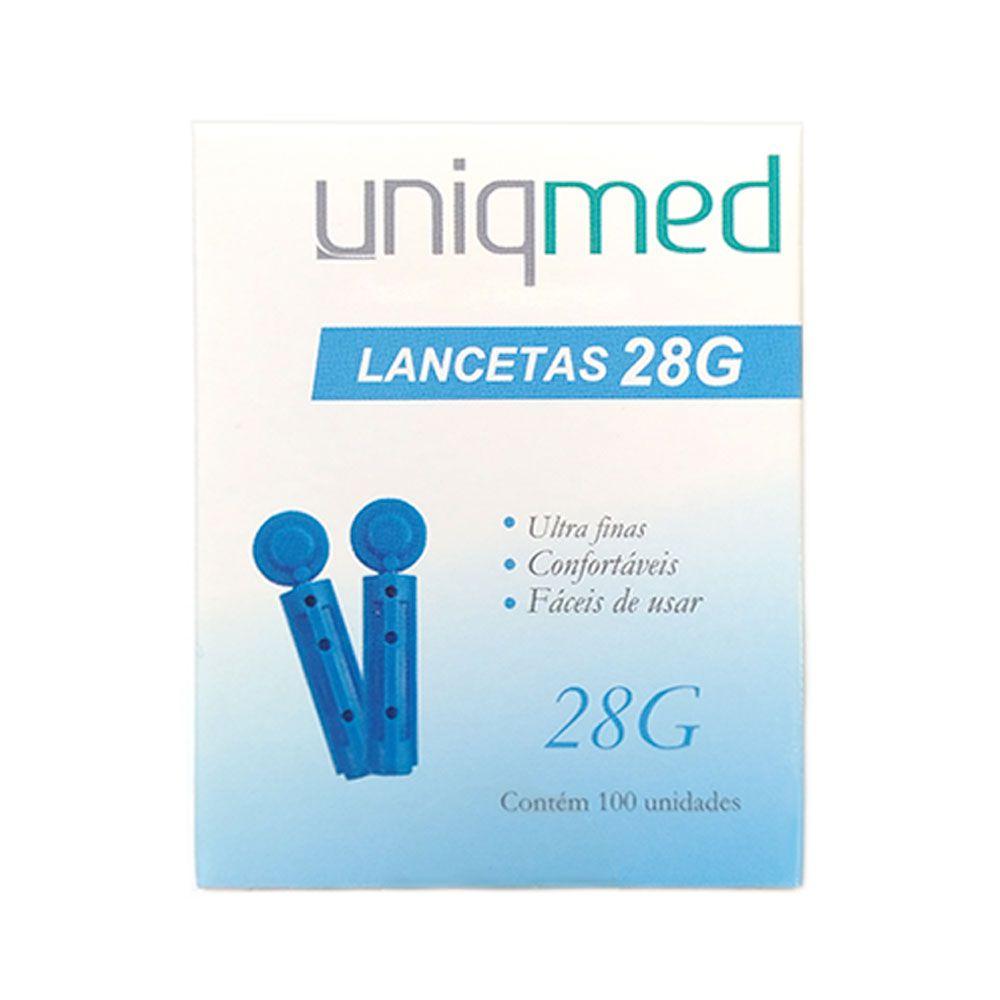 Lanceta Para Lancetador 28G CX C/ 100 Un. Uniqmed