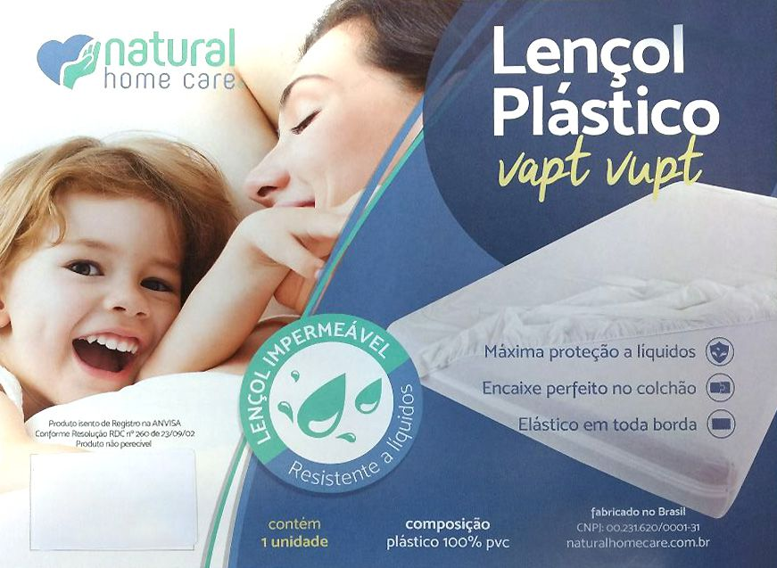 Lençol Plástico Vapt Vupt Casal NHC