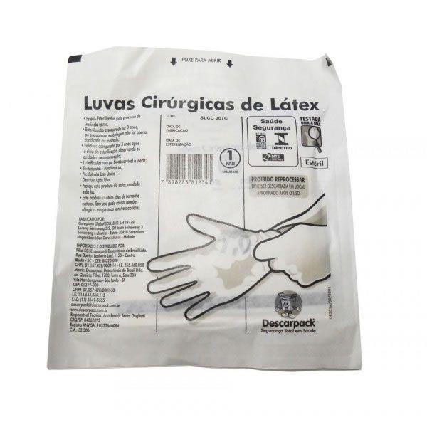Luva Cirúrgica Estéril 7.5 Par Descarpack