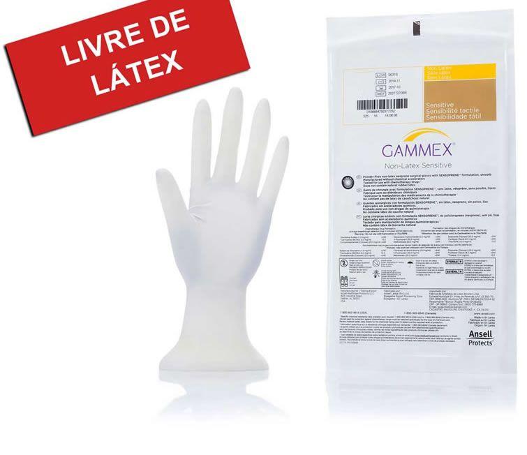 LUVA CIRÚRGICA PAR 8.0 S/PÓ GAMMEX SENSITIVE ANSELL