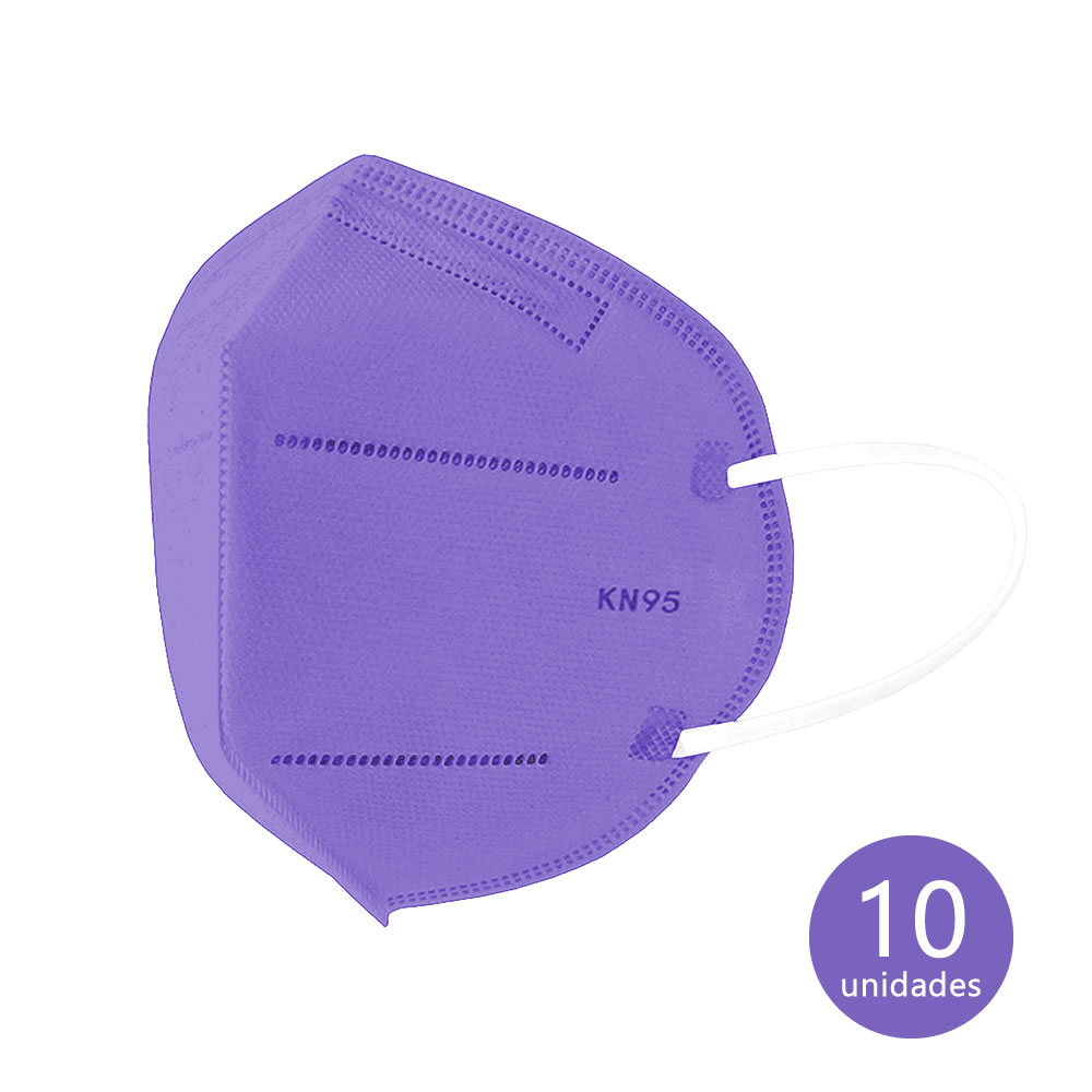 Máscara de Proteção KN95 Roxa com 10 un. Ailia