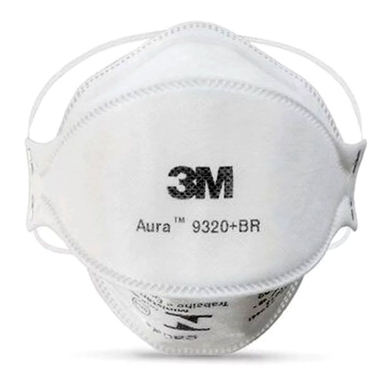 Máscara de Proteção Respirador Aura PFF2 S 9320 BR 3M