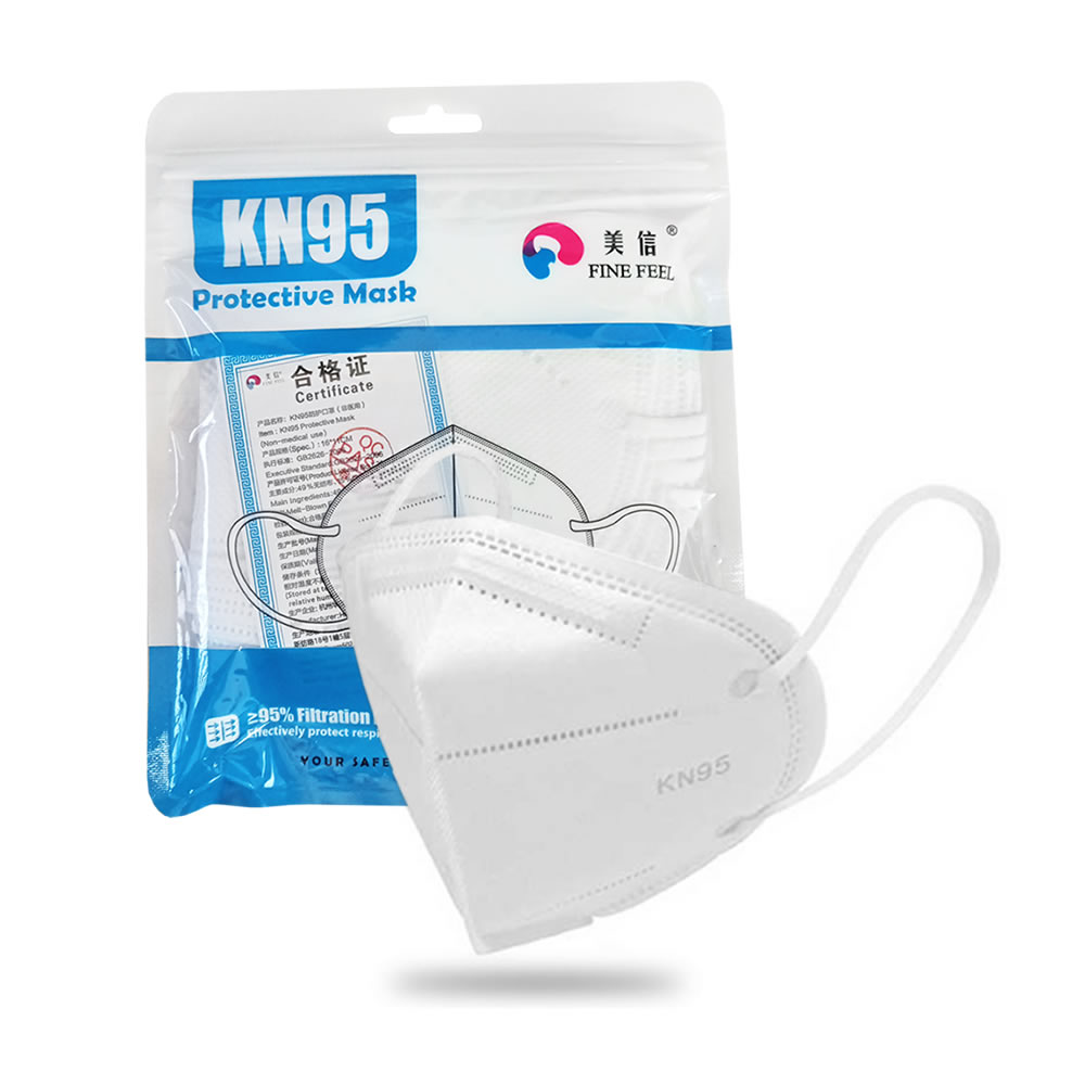 Máscara de Proteção Respiratória KN95 c/5 Fine Feel