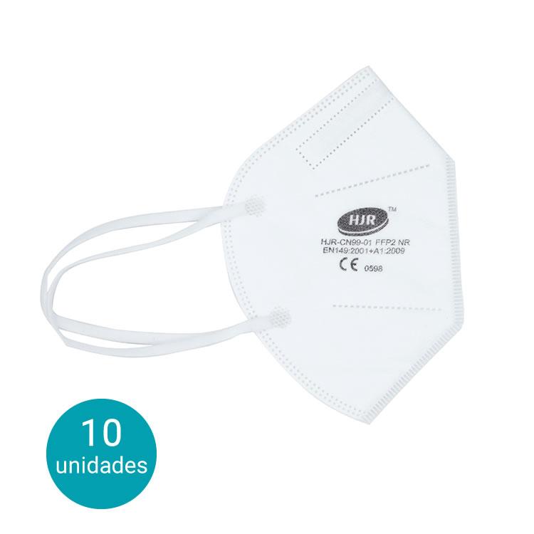 Máscara de Proteção Respiratória KN95 com 10 un. HJR