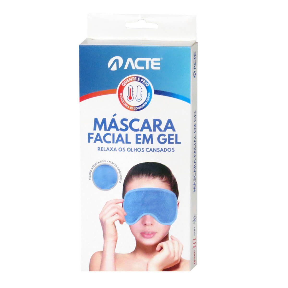 Máscara Facial em Gel Quente/Frio Rosa R3 Acte