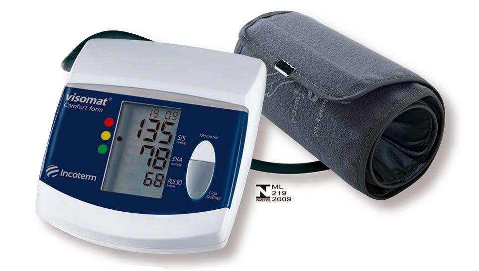 Medidor De Pressão Digital Automático De Braço Visomat Incoterm