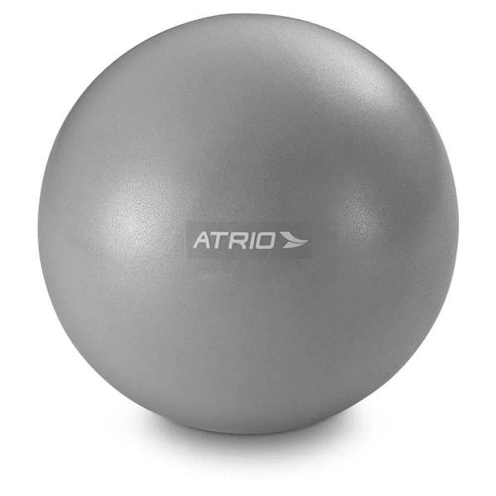 Mini Bola Fitness 20cm para Exercícios Cinza ES239 Atrio