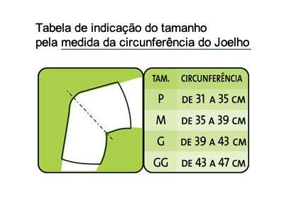 Órtese Para Joelho C/ Dobradiças Metálicas Tam M Mercur