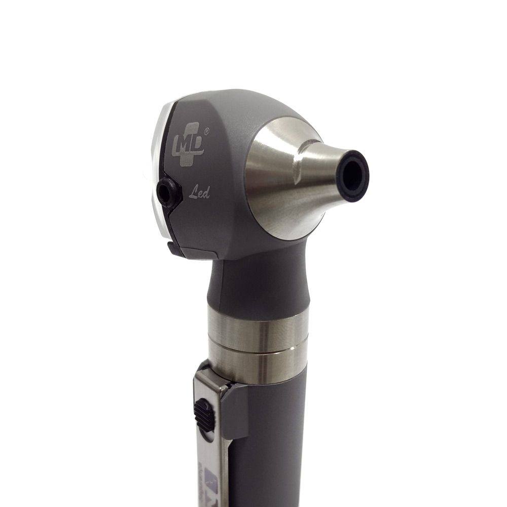 Otoscópio LED OMNI 3000 Cinza C/ Estojo Macio MD