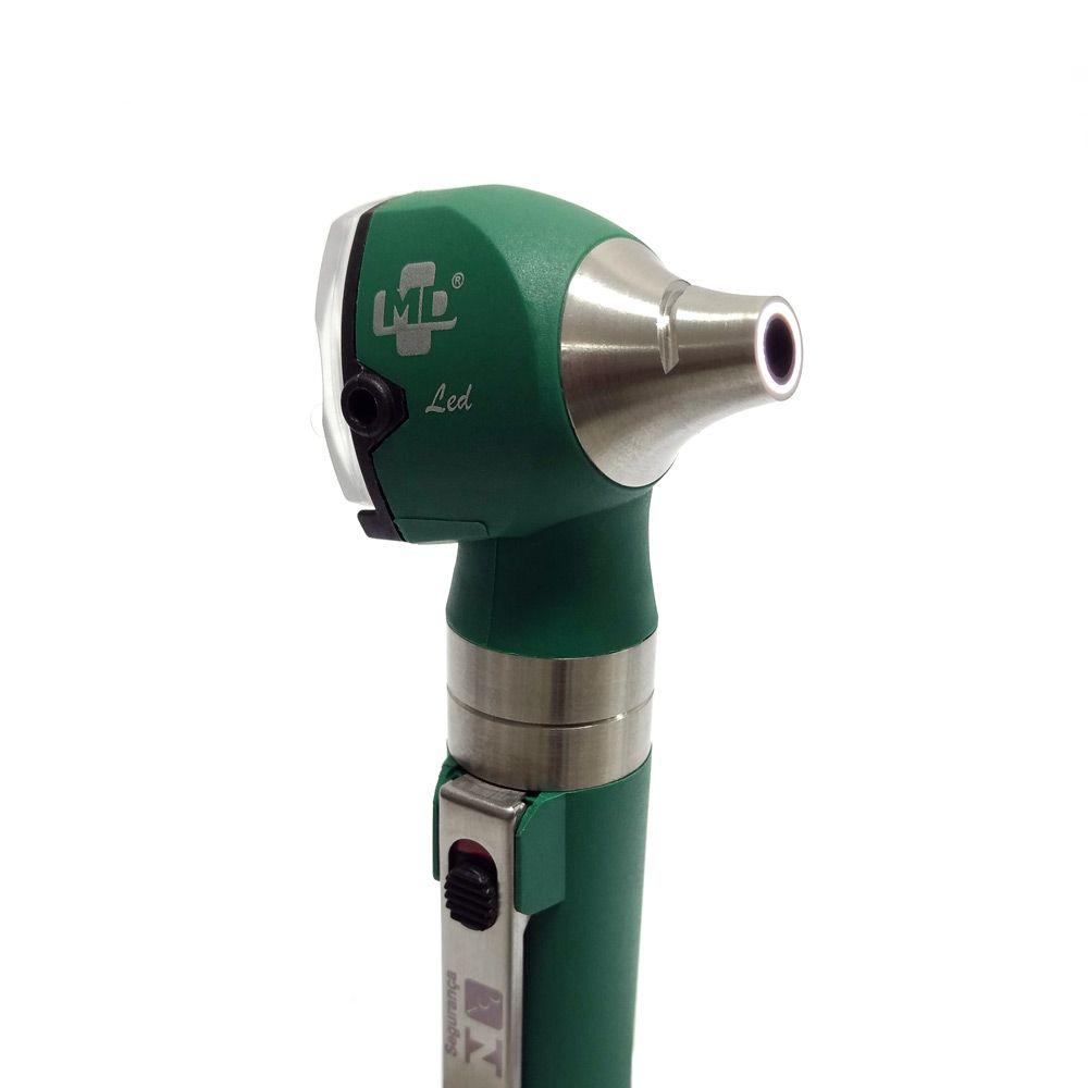 Otoscópio LED OMNI 3000 Verde C/ Estojo Macio MD