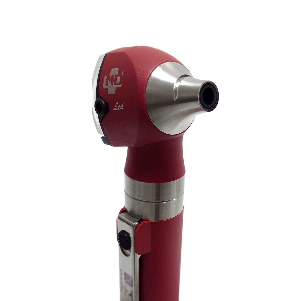 Otoscópio LED OMNI 3000 Vermelho C/ Estojo Macio MD