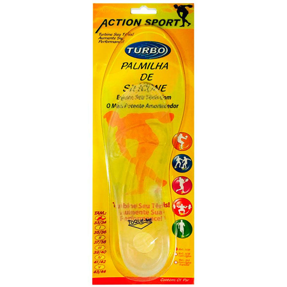 Palmilha De Silicone Action Sport 41/42 Ortho Pauher