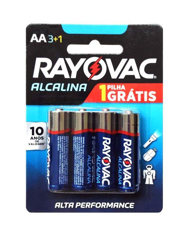 Pilha Alcalina Pequena AA 4 Un. Rayovac