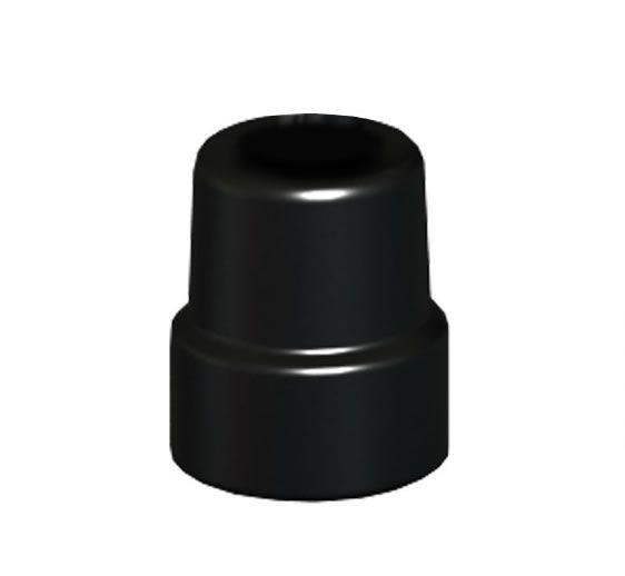 Ponteira P/ Bengalas 4 Pontas 1/2 Preta Unidade Mercur