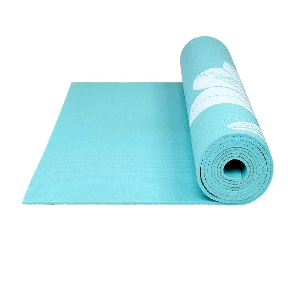Tapete para Yoga Premium Azul Flores ES218 Atrio