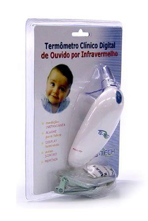 TERMÔMETRO DIGITAL DE OUVIDO INFRA-VERMELHO G-TECH