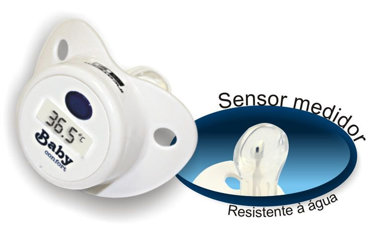 Termômetro Digital Tipo Chupeta Baby Confort Incoterm