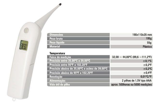 Termômetro Digital Veterinário 6900.02 Incoterm