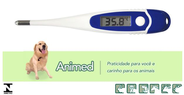 Termômetro Veterinário Digital Animed Incoterm