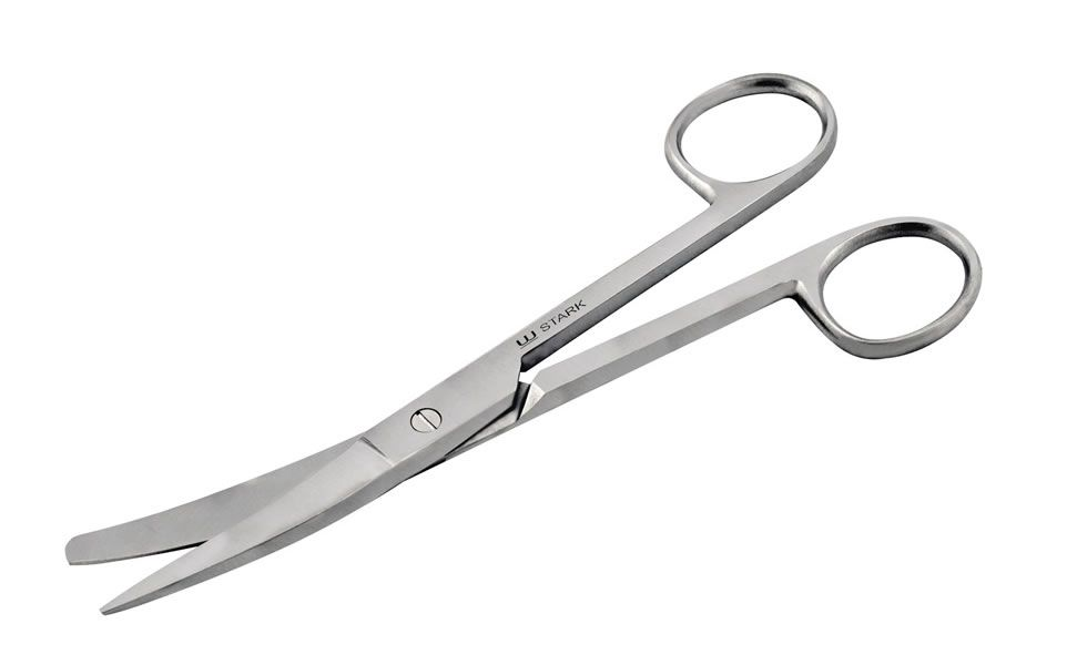 Tesoura Cirúrgica Fina/Romba Curva 15cm Stark