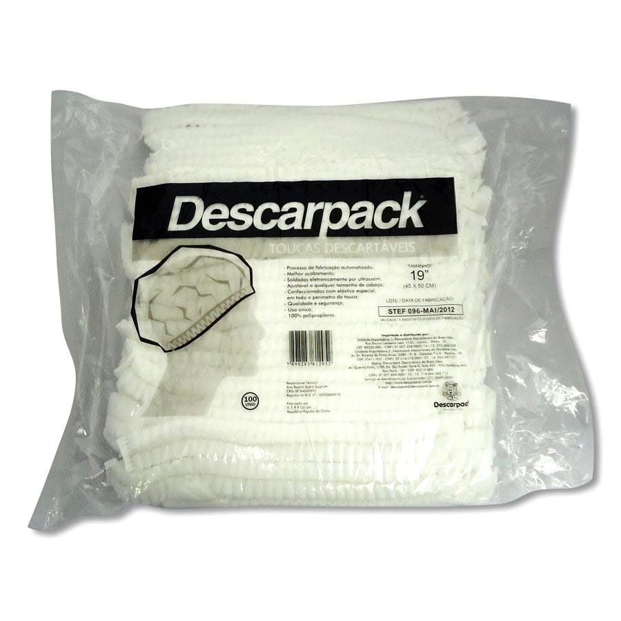 Touca C/ Elástico Descartável C/ 100 Un. Descarpack