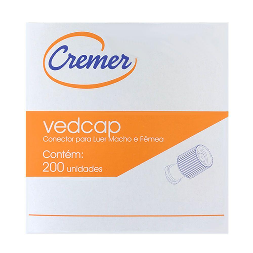 Vedcap Tampa De Vedação Para Conector Luer Macho/Fêmea C/ 200 Un. Cremer