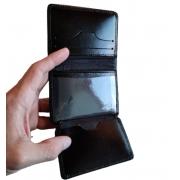 Carteira de Couro Masculina Pequena Porta cartão e CNH