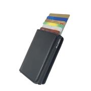 Carteira Discreta Antifurto com Ejetor de Cartões Anti RFID Blocking