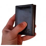 Carteira Masculina Slim Porta Cartões em couro Legitimo