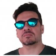 Óculos de sol redondo Retrô Estiloso Unisex