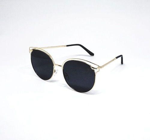 Óculos De Sol Feminino M.looy, Redondo De Metal