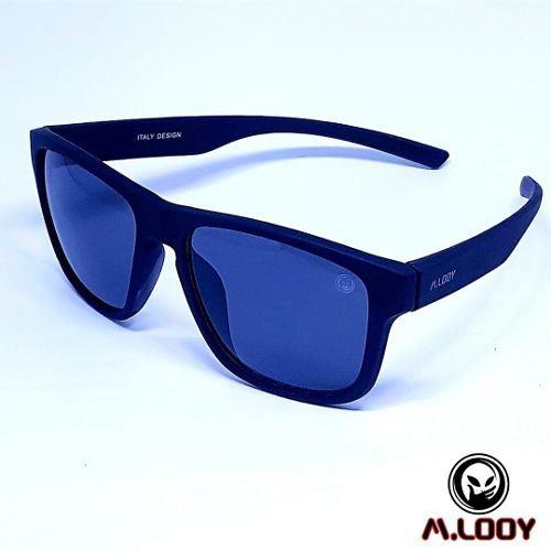 Óculos De Sol M.looy, Lente Preta Armação Emborrachado