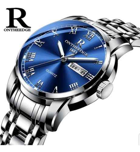 Relógio Masculino Social Luxo Ontheedge Pulseira Inoxidável