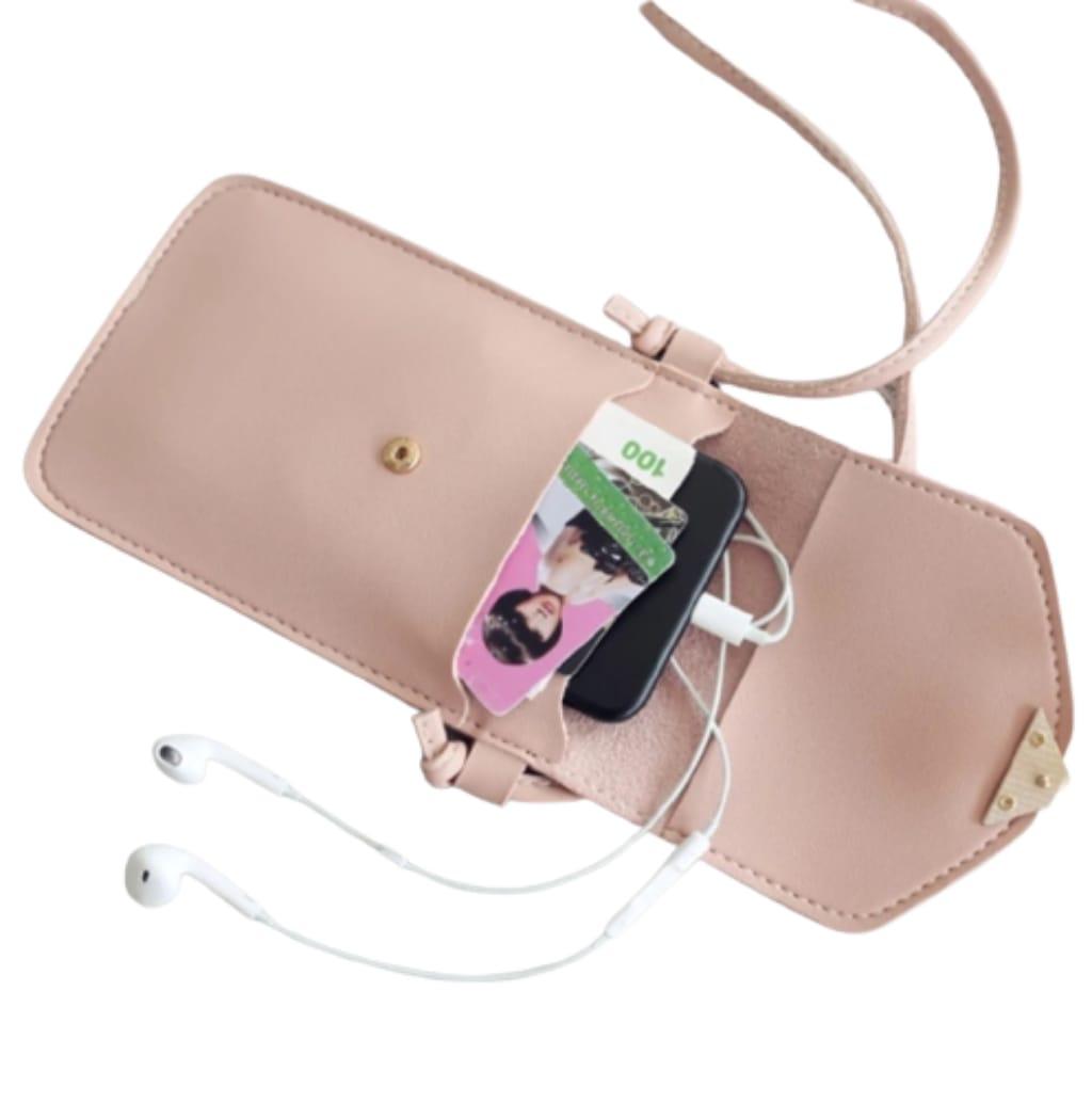 Bolsa Crossbody Porta Celular com visor touch Screem