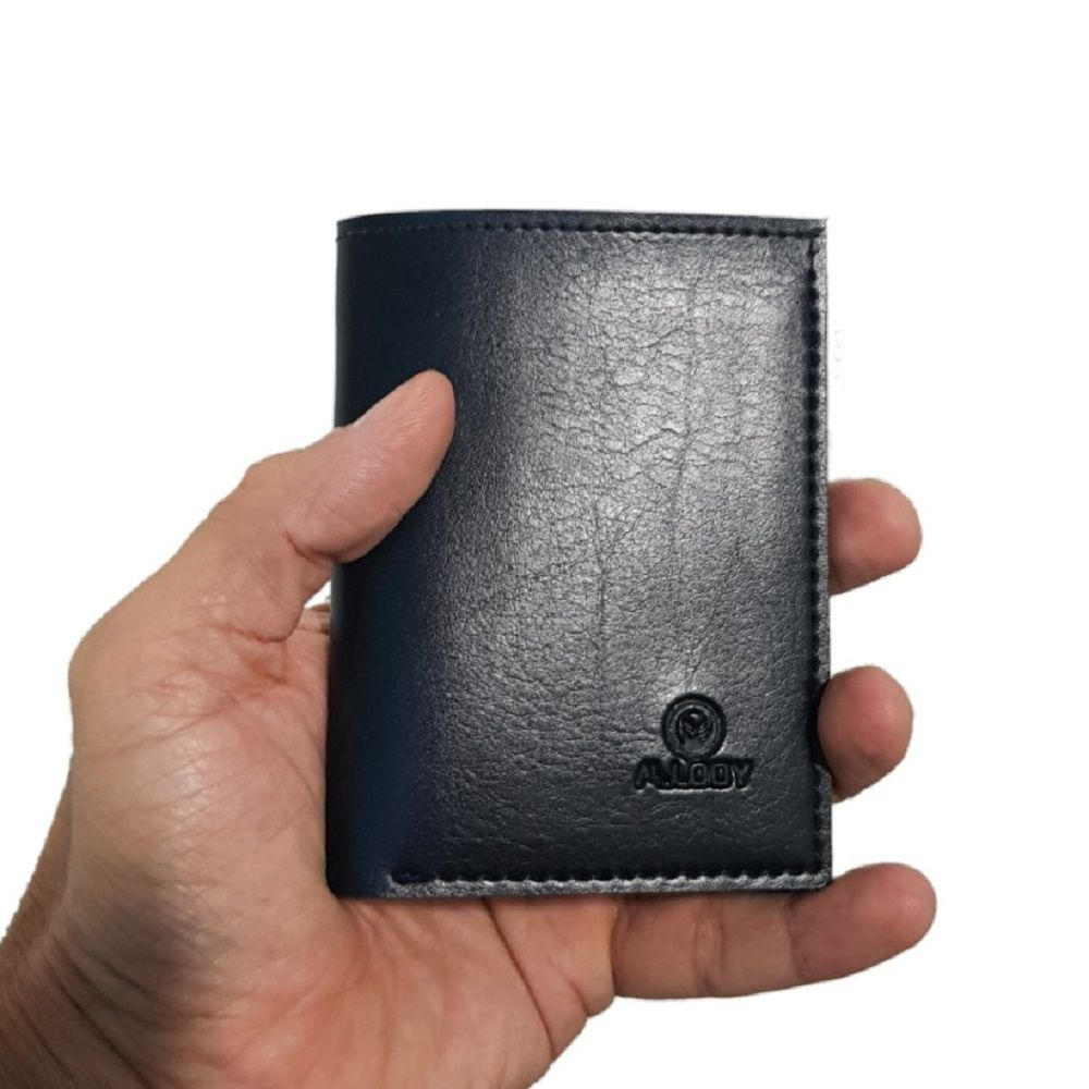 Carteira Masculina, Mini Material Couro  Porta Cartão E Cnh