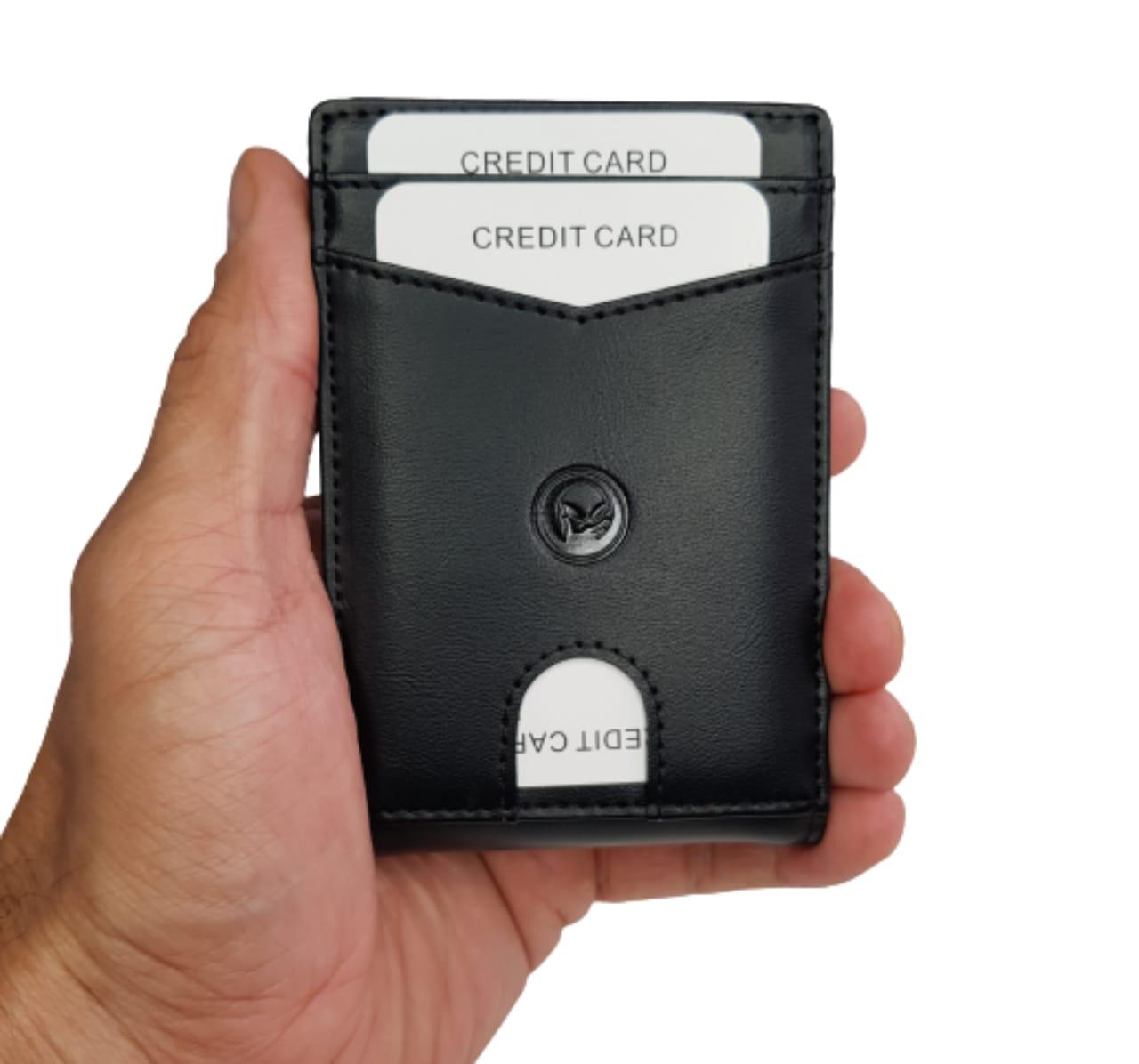 Carteira Modelo Slim Segura Rfid com Grampo para Dinheiro