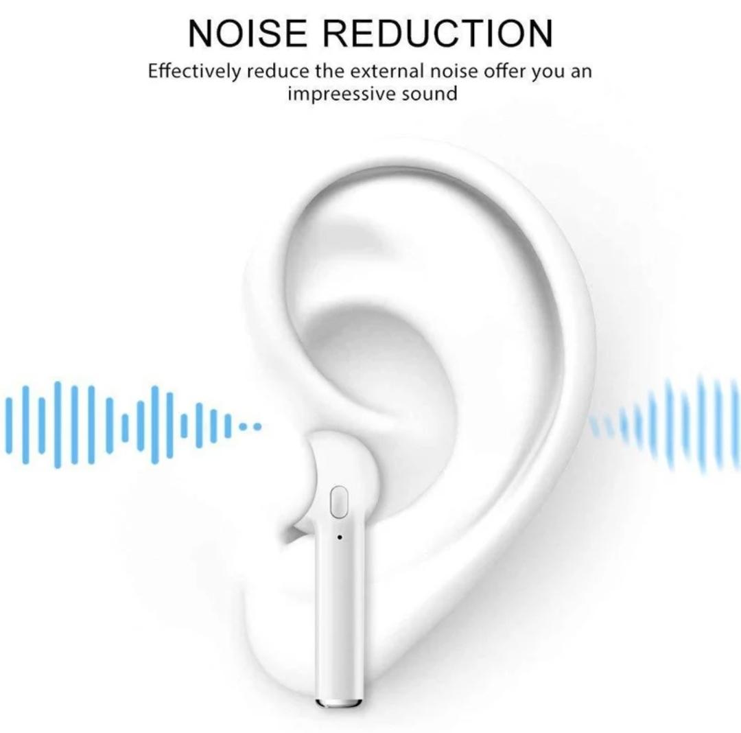 Fone De Ouvido Universal Bluetooth I7 Com Base Recarregável