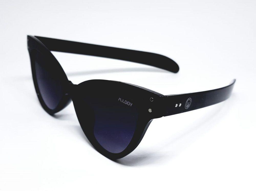 Óculos De Sol Feminino M.looy Design Cat, Lentes Pretas