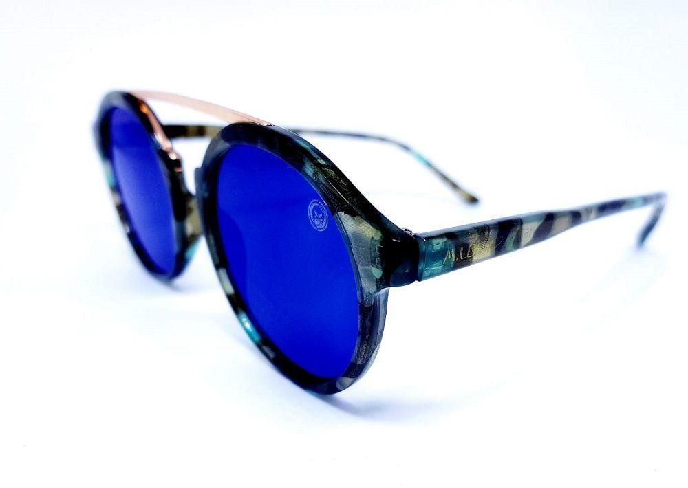Óculos De Sol Feminino Preto, M.looy, Espelhado Azul Cel