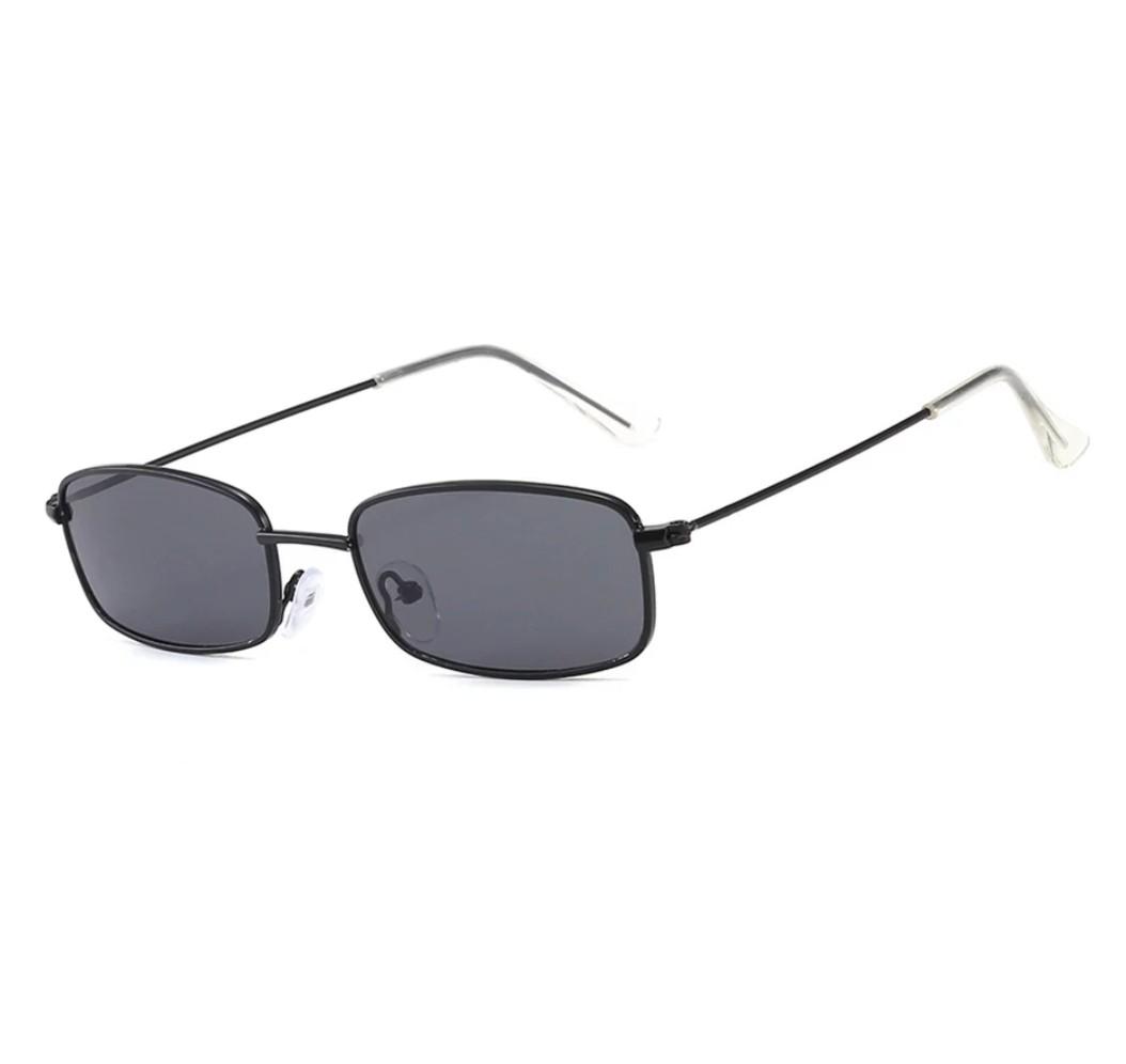Óculos De Sol Fino Retangular Retrô Estilo Vintage Uv 400